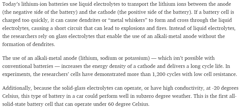 Lithium-ion may no longer be Goodenough after battery
