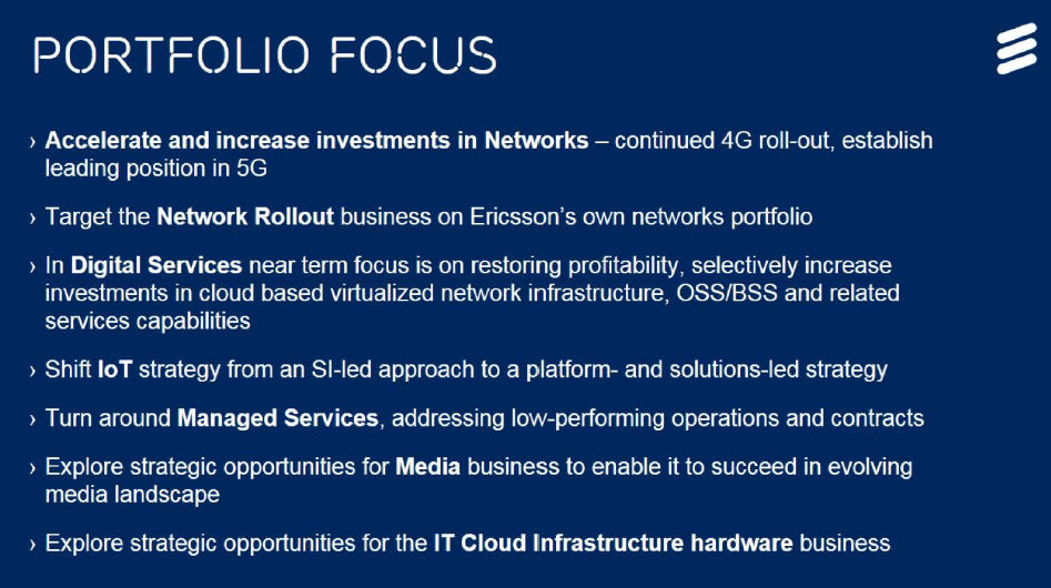 Ericsson focused business strategy slide 1