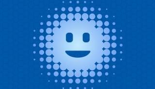 Digital / virtual intelligent personal assistant flat vector illustration