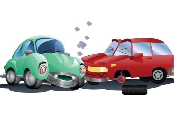 destroyed car a crash