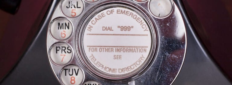 old phone emergency call
