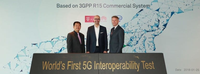 2018-1-25 World's first 5G NR Interoperability test based on 3GPP R15 co...