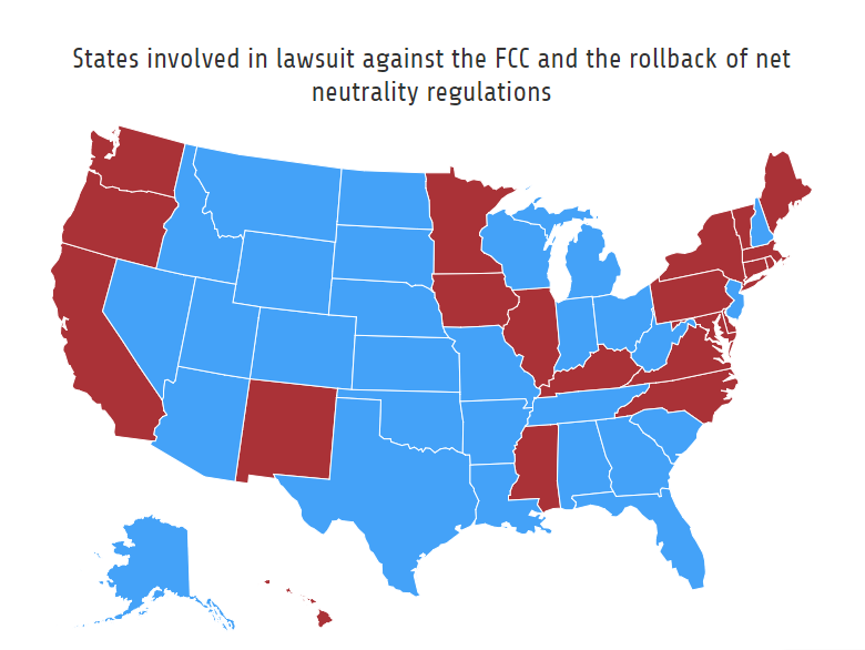 21 states sue to keep net neutrality