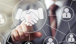 Business handshake network online