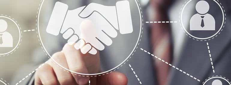 Business handshake network online