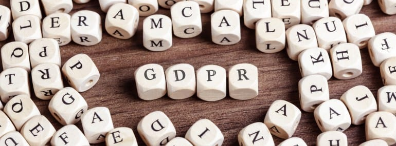 General Data Protection Regulation (GDPR), letter dices word