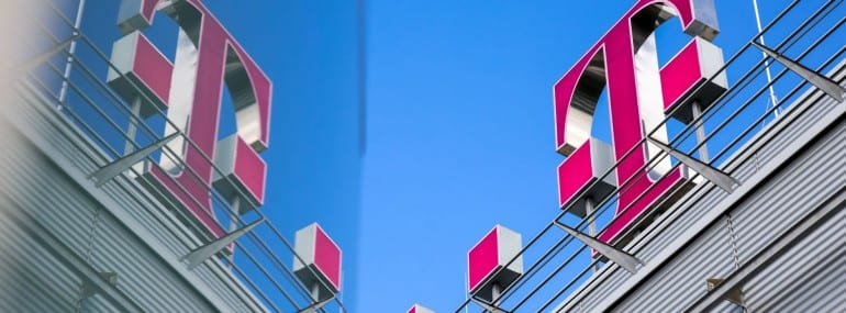Deutsche Telekom logo reflection