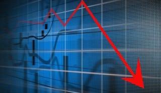 graph chart down decline fall