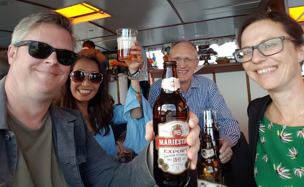 Ericsson tour boat beers
