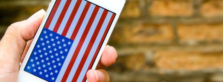 USA america smartphone flag