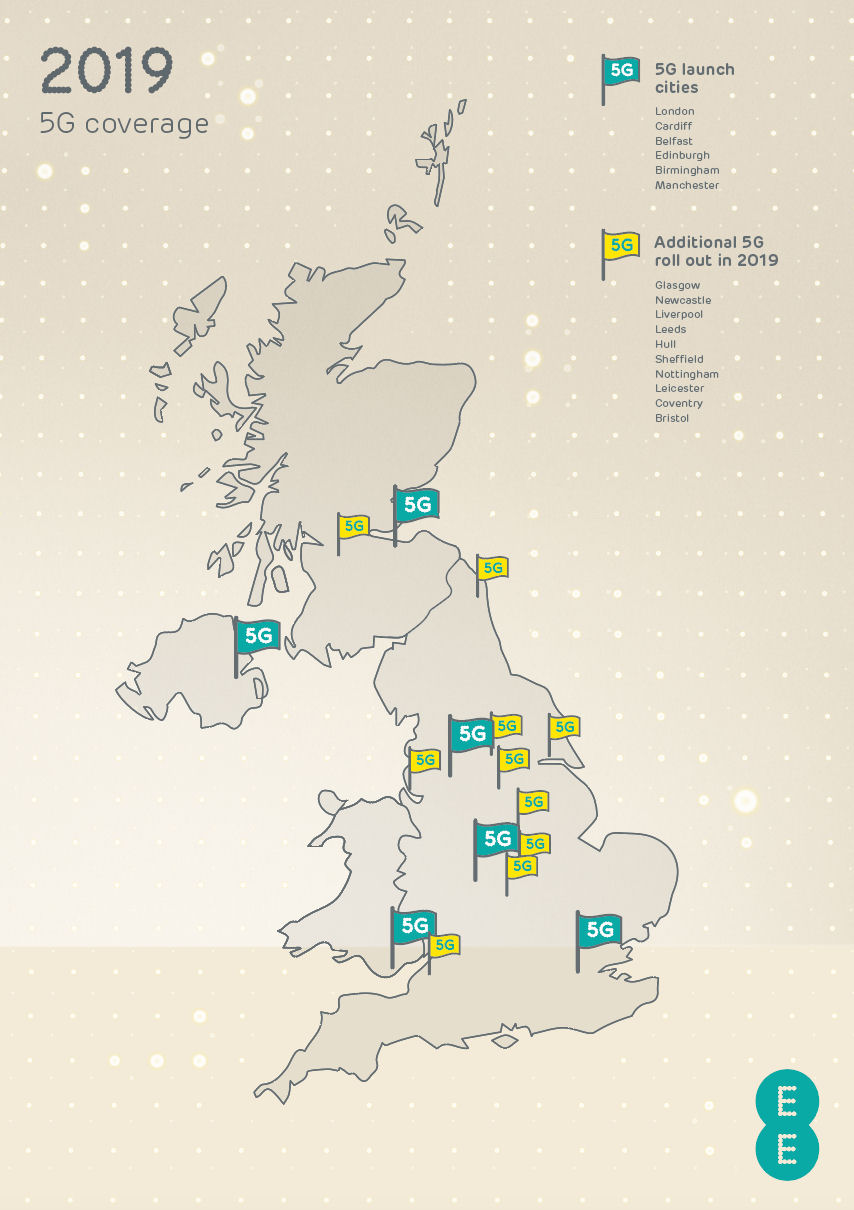 EE 5G launch map