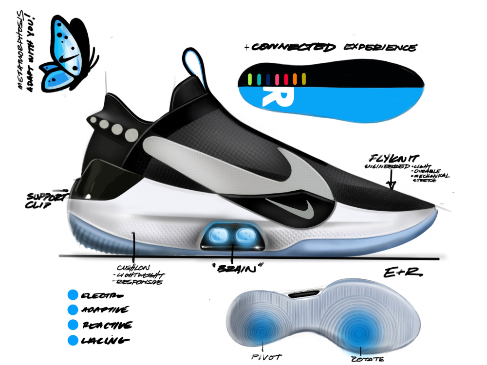 Nike has made some shoes that you can lace up with your