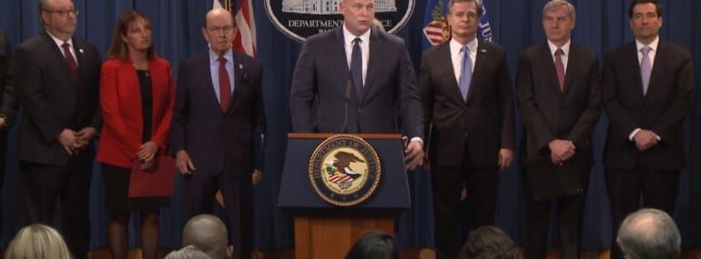 US DoJ Huawei indictments