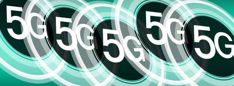 Fast speed internet 5G vector background concept