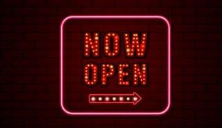 now open sign neon