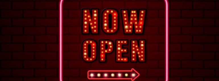 now open sign neon