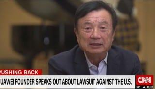 Ren Zhengfei CNN screen