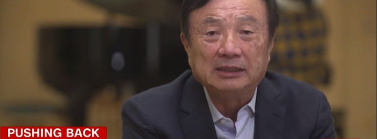 Ren Zhengfei CNN screen