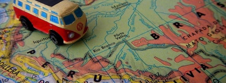Map Van South America Travel Gps