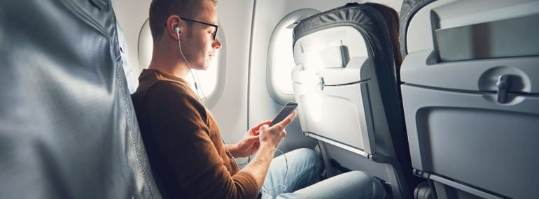 Connection in the airplane