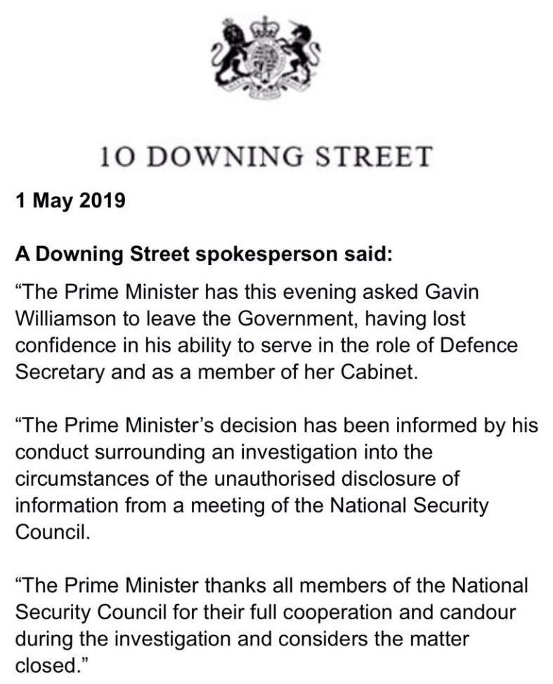 Williamson statement
