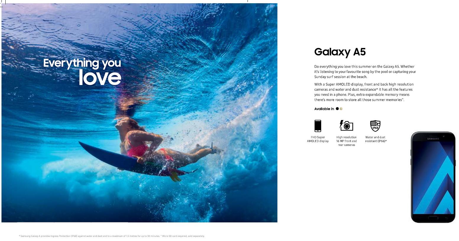 Samsung surfboard