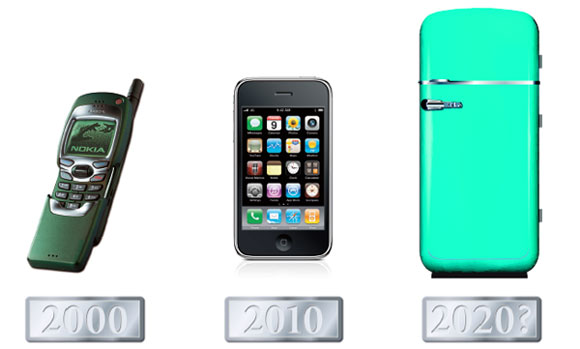 If we take the Nokia 7110 as an emblem of 2000 and the iPhone as an emblem of 2010, what might be used to represent 2020?