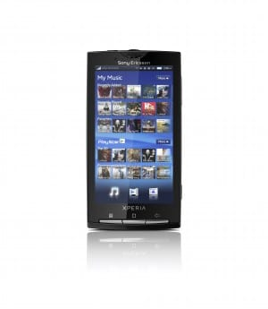 The Xperia X10, one of Sony Ericsson's 2010 Android flagships