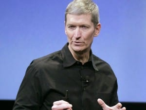 Apple CEO Tim Cook doesn't seem faced by competition to Apple Pay