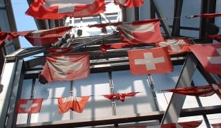 Swiss flags