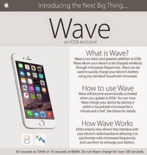 This is a hoax - under no circumstances should you microwave your iPhone, even if it's really cold