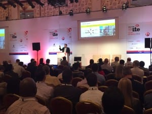 Marquardt addresses the audience at LTE North America