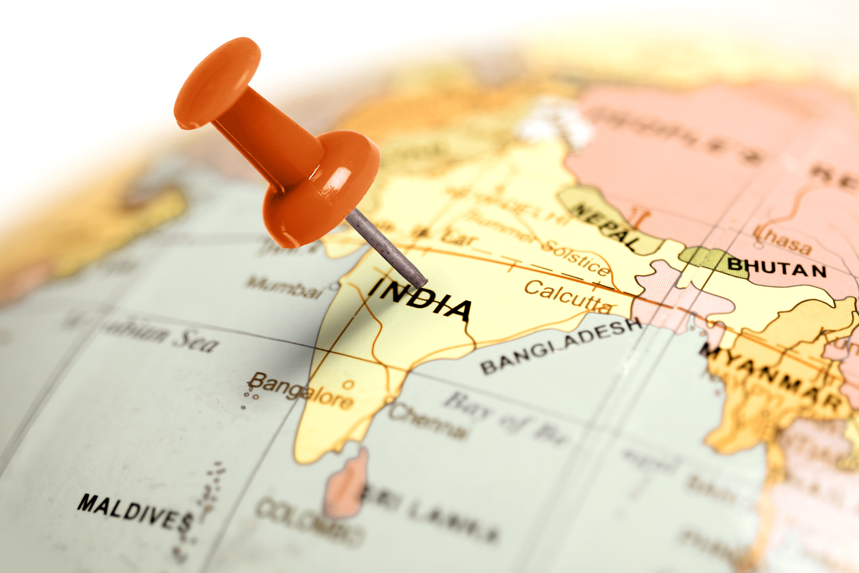 Location India Red Pin On The Map Telecoms Com