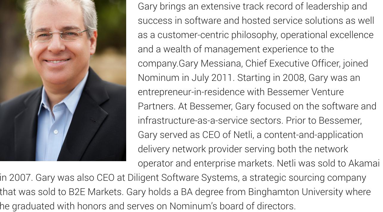 Gary Messiana Nominum