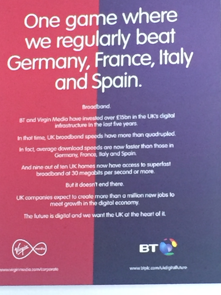 Virgin Media BT Ad