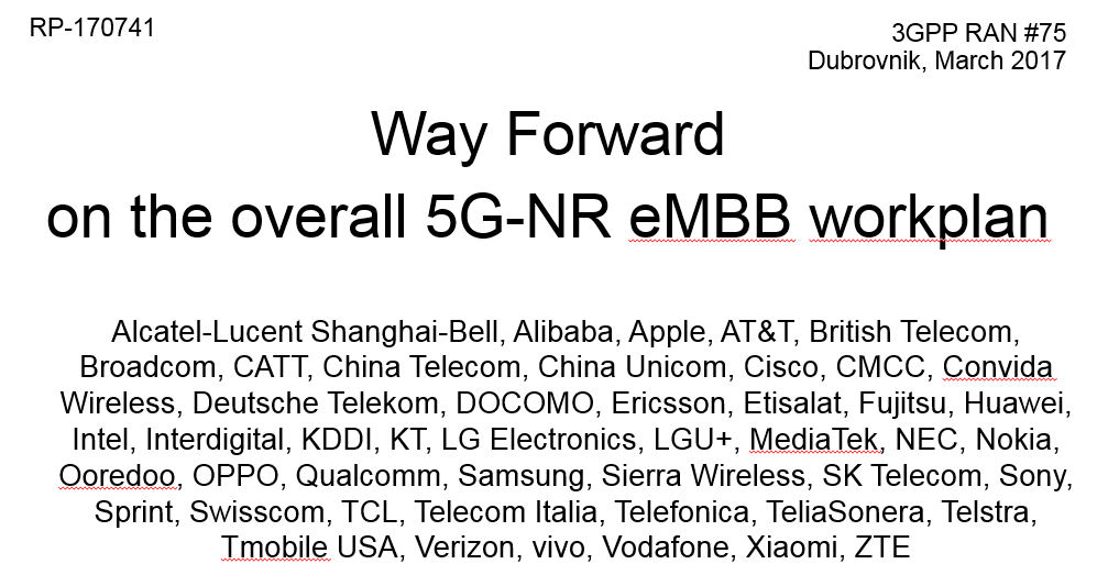 3GPP RAN 75 slide 2
