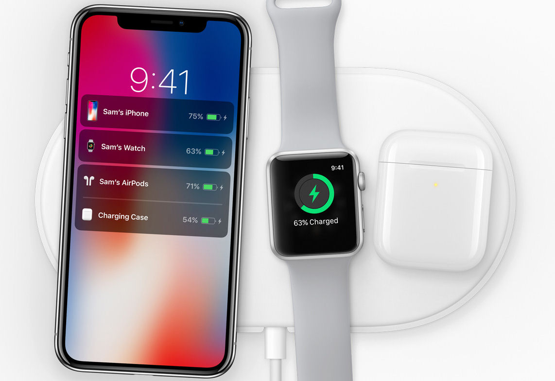 iPhone X and Apple Watch 3 charging