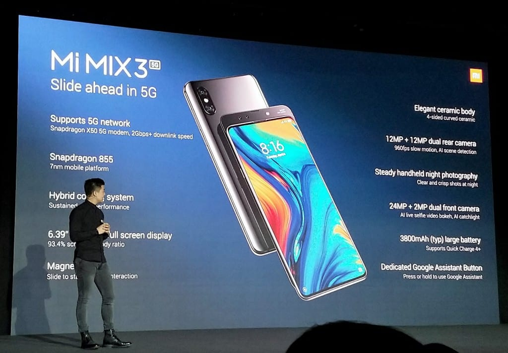 Xiaomi Mi Mix 3 launch Feb 2019