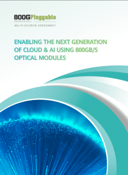 800G Pluggable MSA Work Group Releases the 800G White Paper